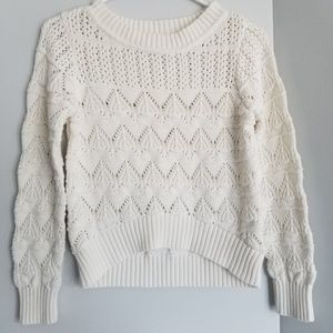 Knit sweater medium hi low style forever 21